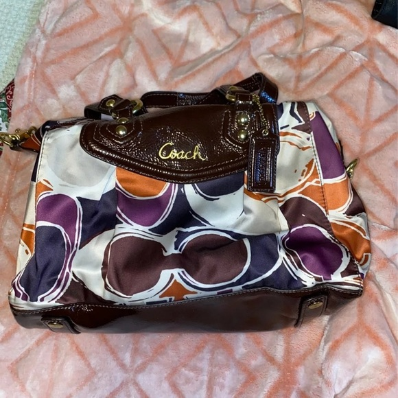 Coach Purse with one strap and two handles